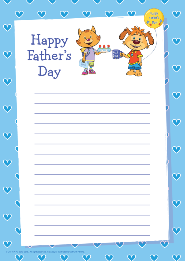 Father's Day Writing Paper (Pip Ahoy!)