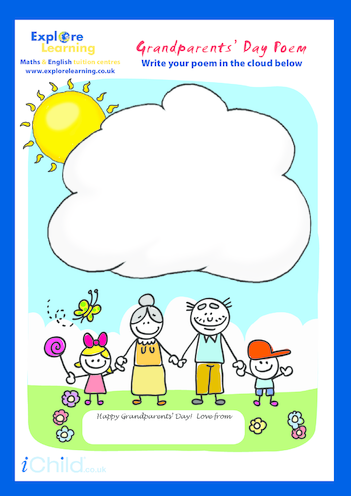 Thumbnail image for the Grandparents' Day Poem activity.