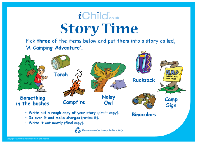 Thumbnail image for the Story Time - Camping activity.