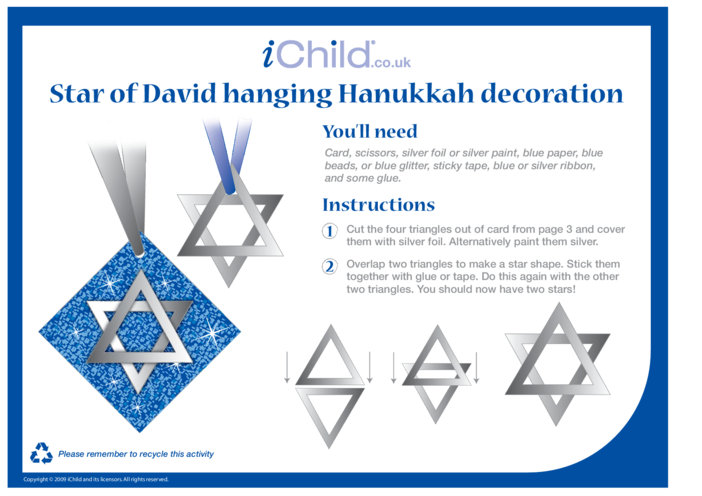 Thumbnail image for the Hanukkah Decorations activity.