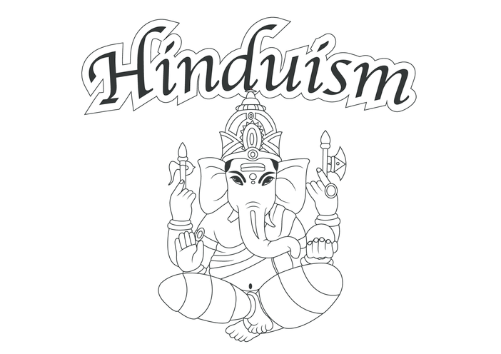 Thumbnail image for the Hinduism (black & white) - Signs & Posters activity.
