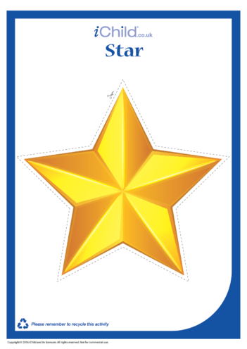 Thumbnail image for the Christmas Star Cut-Out Decoration activity.