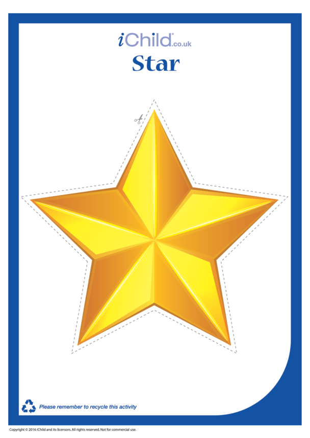 Christmas Star Cut-Out Decoration