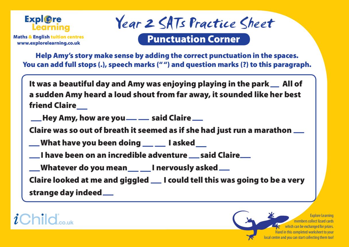 SATS Practice Paper Year 2: Punctuation Corner