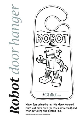 Thumbnail image for the Robot Door Hanger activity.