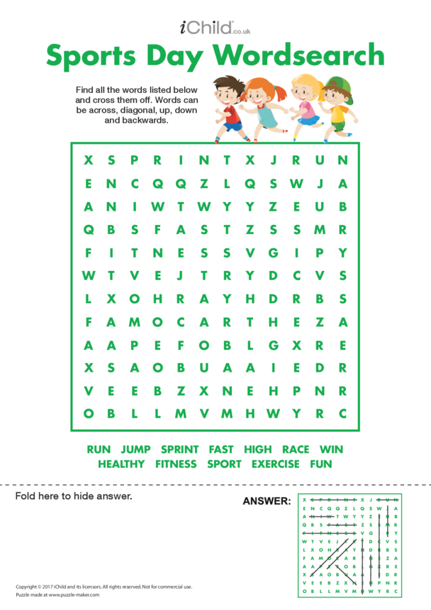 Sports Day Wordsearch