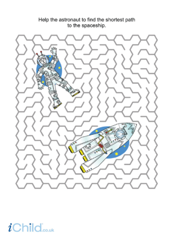 Thumbnail image for the Astronaut Maze activity.