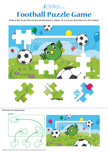 Thumbnail image for the Football Puzzle Game activity.