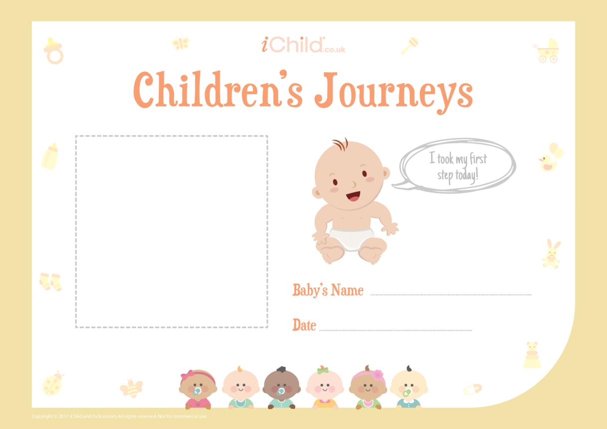 Children's Journeys: My First Step (yellow form)