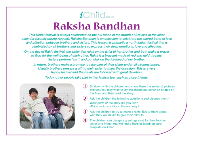 Thumbnail image for the Raksha Bandhan Religious Festival Story activity.
