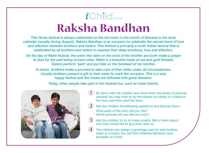 Thumbnail image for the Raksha Bandhan Religious Festival Story activity.