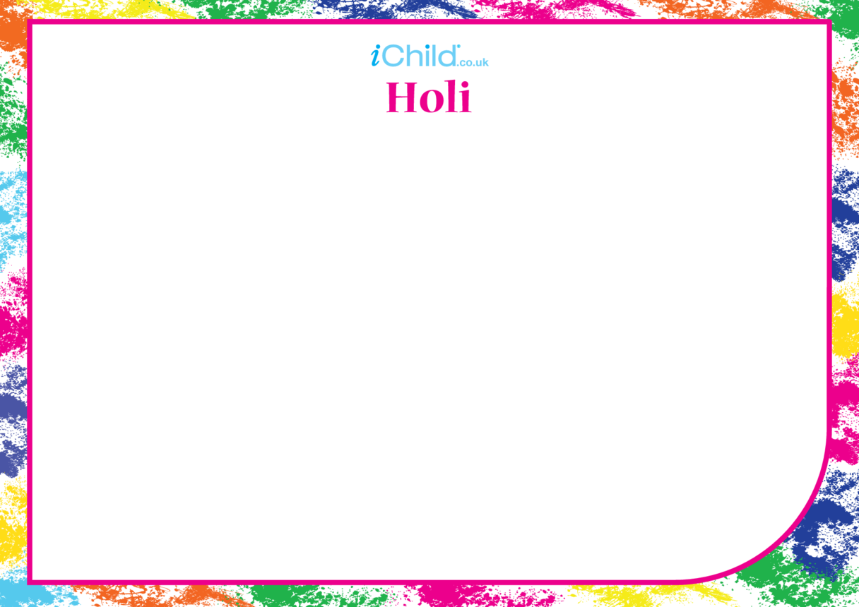 Holi Blank Drawing Template