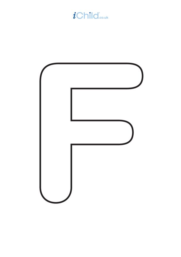 F: Poster of the Letter 'F', black & white