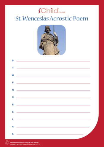 Thumbnail image for the St. Wenceslas Acrostic Poem activity.
