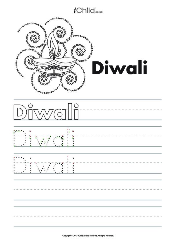 Diwali Handwriting Practice Sheet