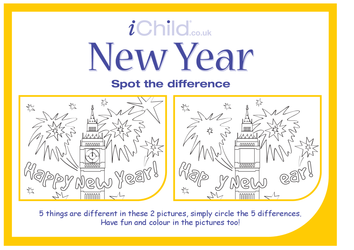 New Year Spot the Difference