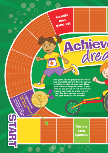 Thumbnail image for the Early Years 5) Achieve Your Dream- Game A3 activity.
