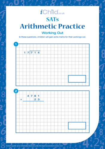Thumbnail image for the Arithmetic Practice: Working Out activity.