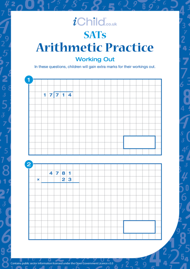 Arithmetic Practice: Working Out