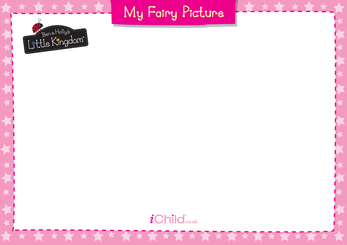 Fairy Picture Blank Drawing Template