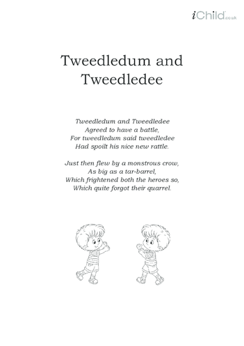 Thumbnail image for the Tweedledum and Tweedledee Lyrics activity.