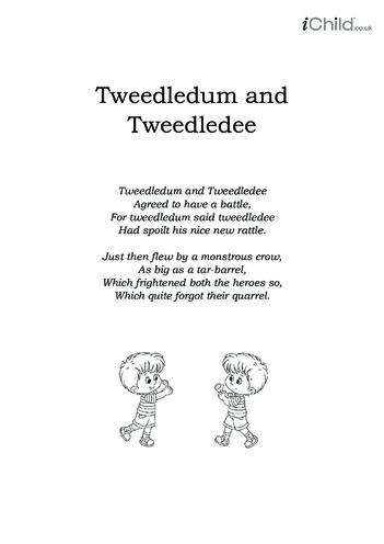 Thumbnail image for the Tweedledum and Tweedledee Lyrics activity.