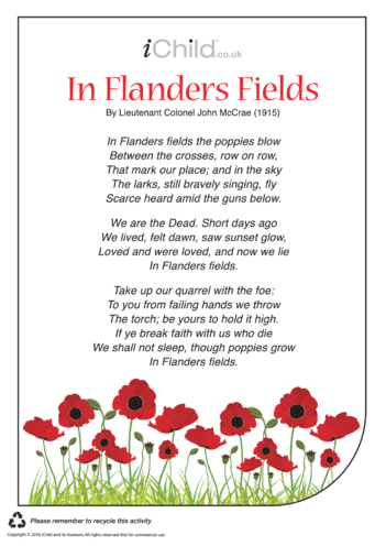Thumbnail image for the In Flanders Fields activity.