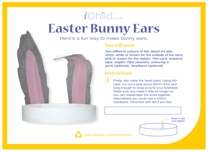 Thumbnail image for the Bunny Ears Craft activity.