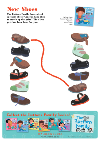 Thumbnail image for the The Buttons Family: New Shoes, Matching Shoes activity.