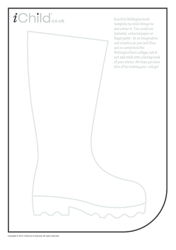 Thumbnail image for the Wellington Boot Collage activity.