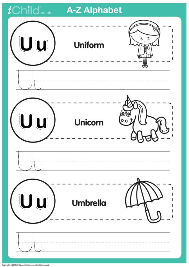 U: Write the Letter U