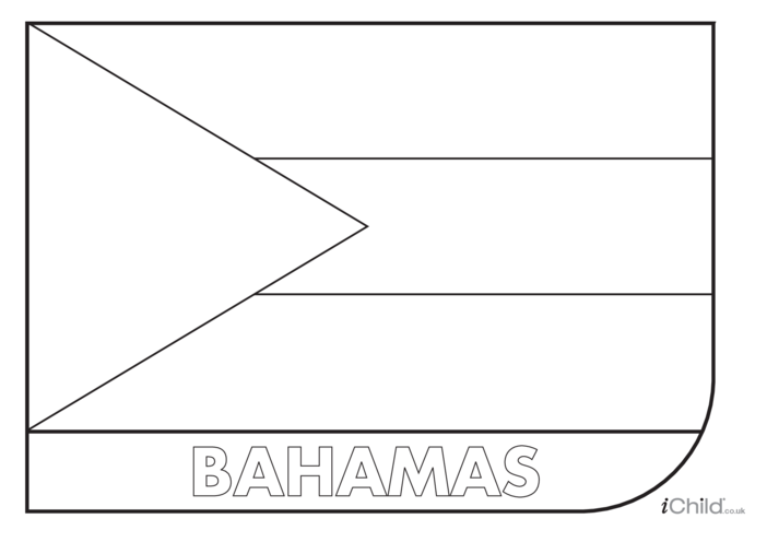 Thumbnail image for the Bahamas Flag Colouring in Picture (flag of the Bahamas) activity.
