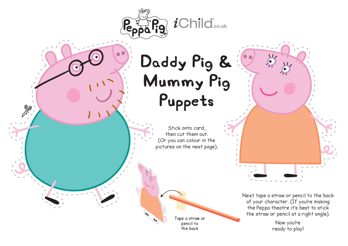 Finger Puppets: Mummy & Daddy Pig