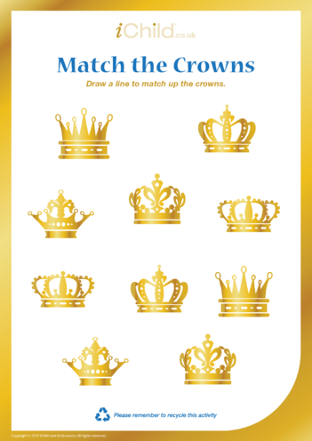 Thumbnail image for the Matching Crowns activity.