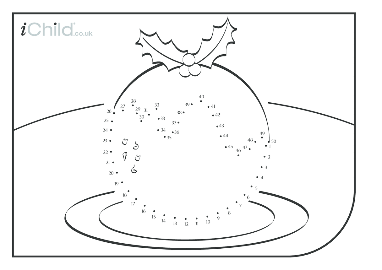 Dot to Dot - Christmas Pudding