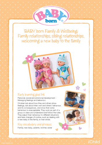 Thumbnail image for the BABY born Family & Wellbeing activity.