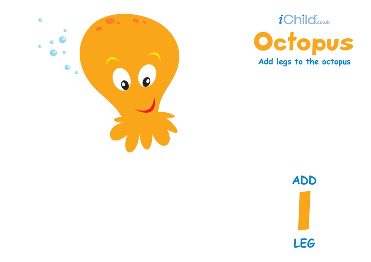 Play Dough Counting Mats: Octopus