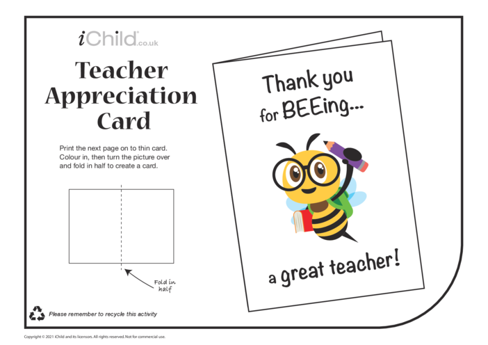 Thumbnail image for the Thank you for BEEing a Great Teacher activity.