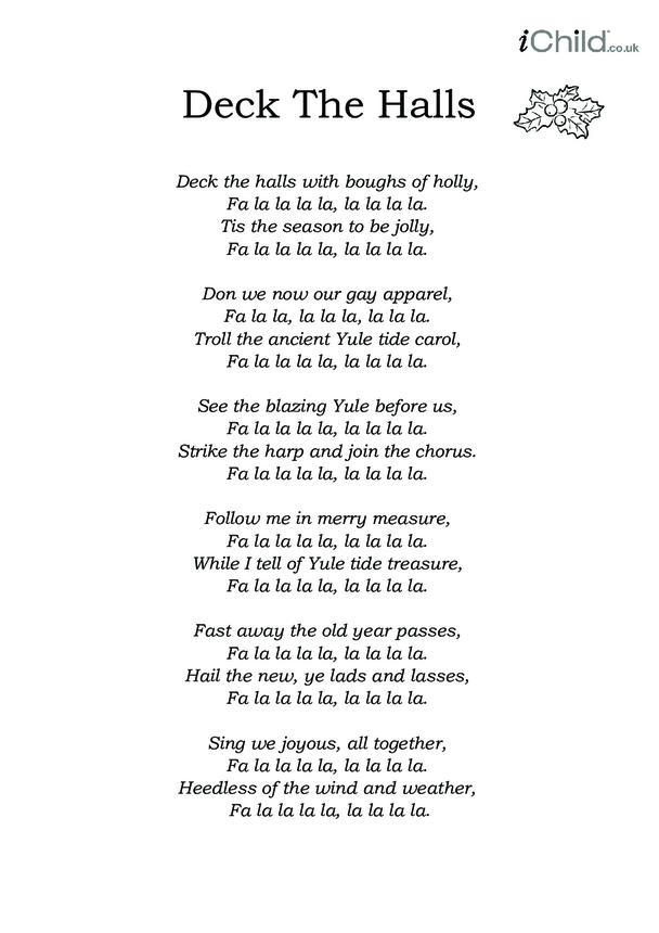 Christmas Carol Lyrics: Deck The Halls