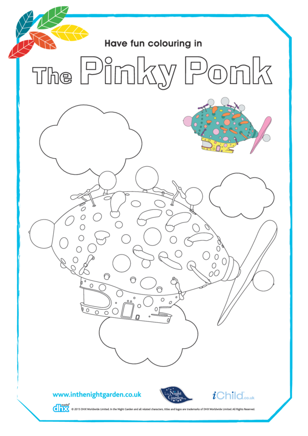The Pinky Ponk Colouring in Picture