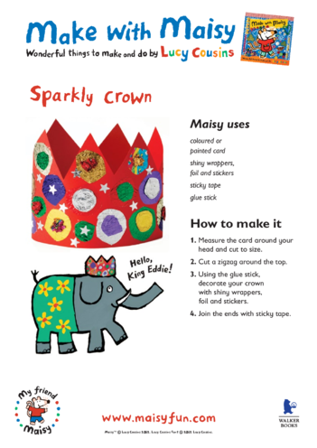 Thumbnail image for the Maisy Sparkly Crown activity.