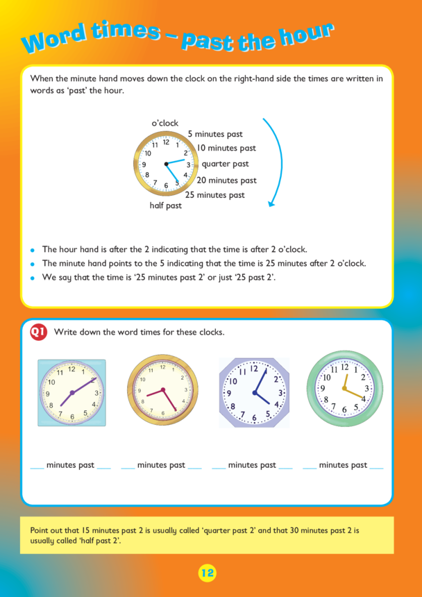 Collins Easy Learning KS2 Telling The Time, Past the Hour