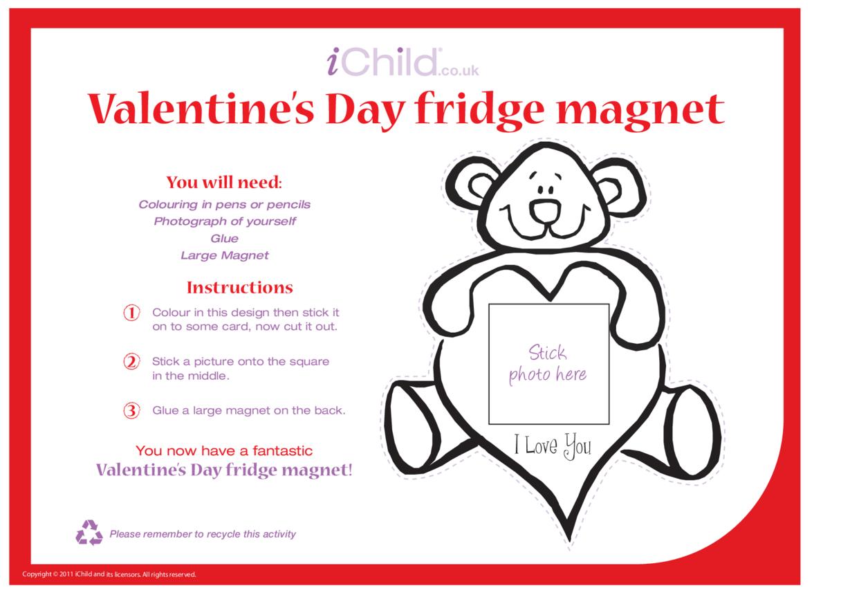 Valentine's Day Craft Fridge Magnet