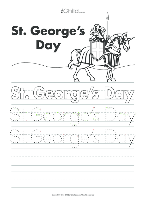 St. George's Day Handwriting Practice Sheet