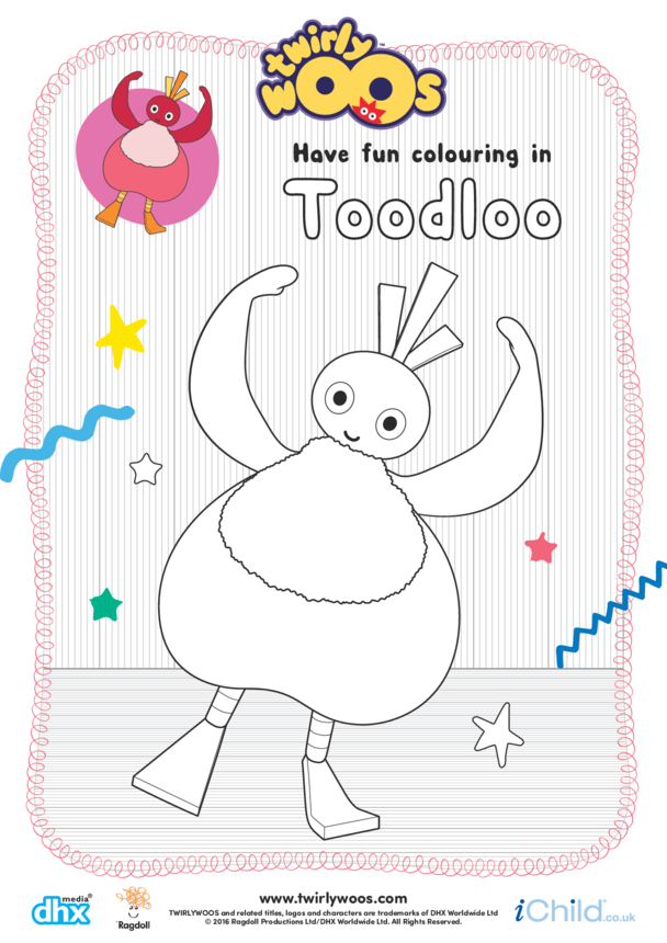 Toodloo Colouring in Picture