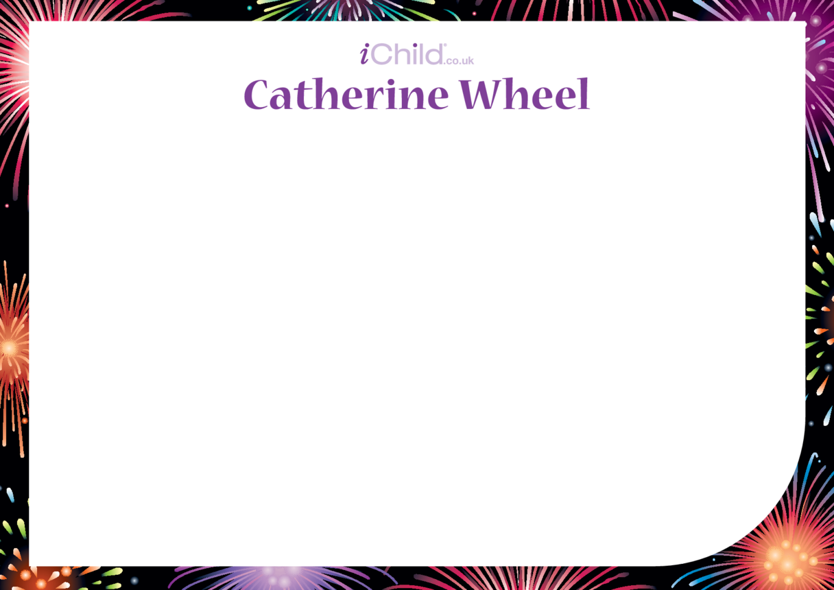 Catherine Wheel Blank Drawing Template