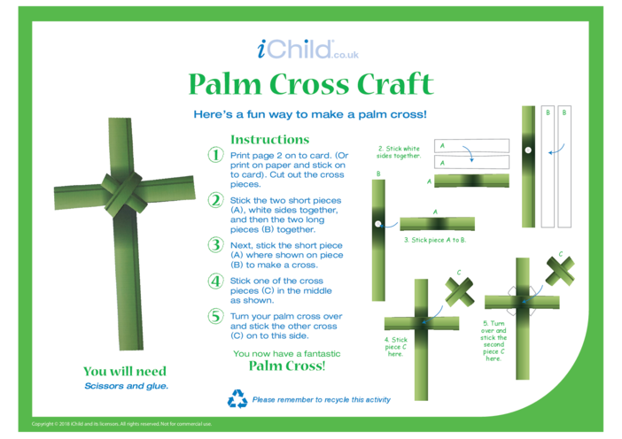Thumbnail image for the Palm Cross Craft activity.
