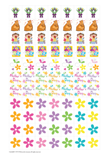 Thumbnail image for the Mother's Day Reward Chart Stickers activity.