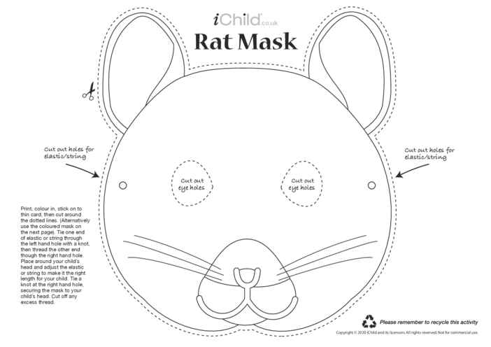 Thumbnail image for the Chinese New Year of the Rat Mask activity.