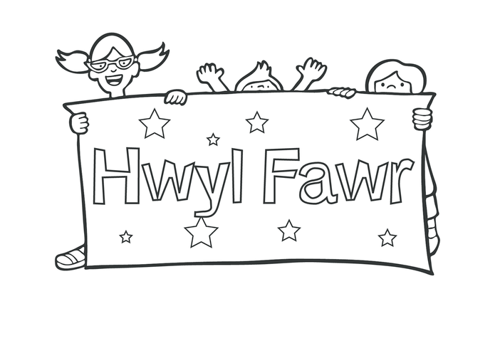 Thumbnail image for the Goodbye in Welsh (black & white) activity.